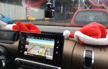 Kerstmis in de auto