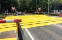 Gele spoorwegovergangen