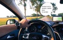 Schreeuwen tegen je navigatie