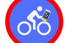Appen op fiets verboden
