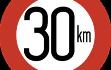 30 km binnen bebouwde kom