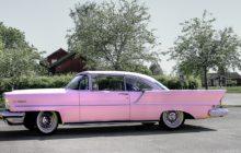 Roze auto's meeste schade