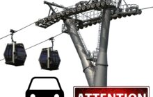 Kabelbaan over snelweg